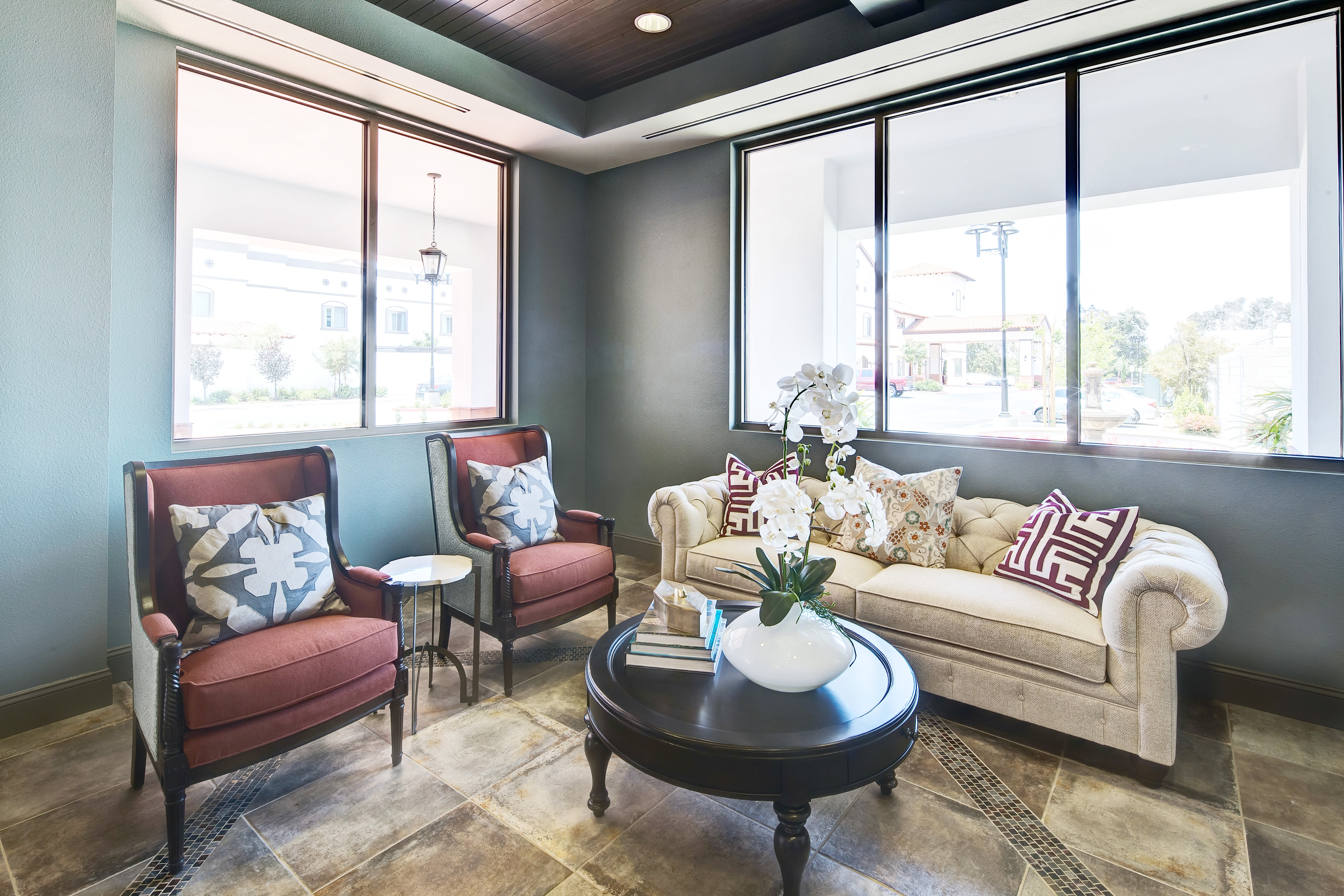 Living space at senior living community in Torrance, California