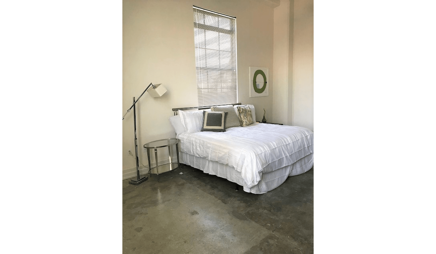 Master bedroom at The Exchange Lofts in Fort Lauderdale, Florida