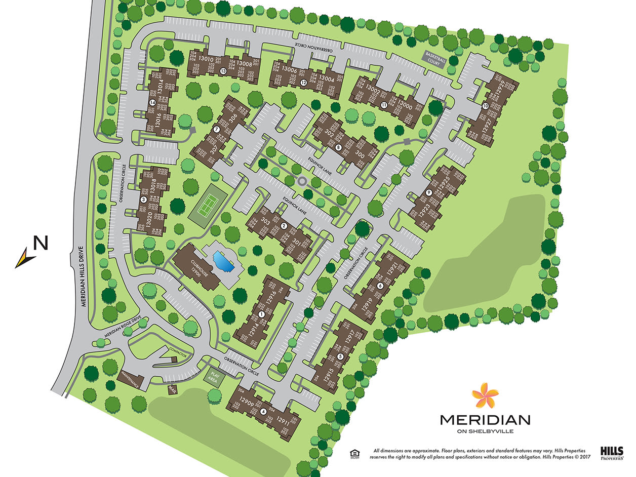 Site map of Meridian on Shelbyville in Louisville, Kentucky
