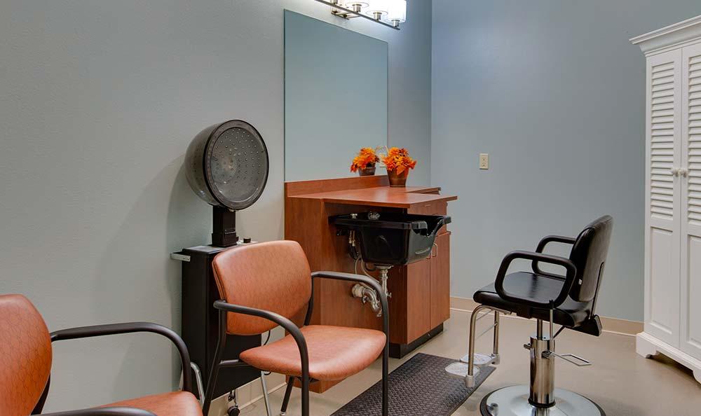 Community salon for residents at Westport Estates Senior Living in Marshall, Missouri