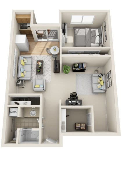 Assisted Living one bedroom with den at Cottonwood Creek in Salt Lake City, Utah