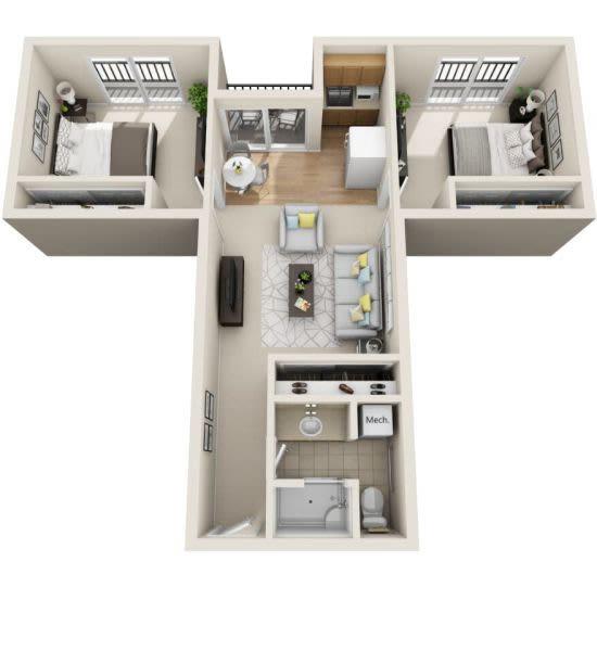 Assisted Living two bedroom at Cottonwood Creek in Salt Lake City, Utah