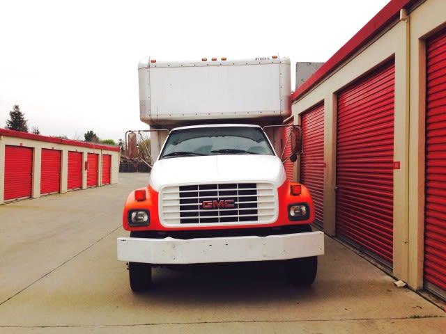 Moving truck at Trojan Storage