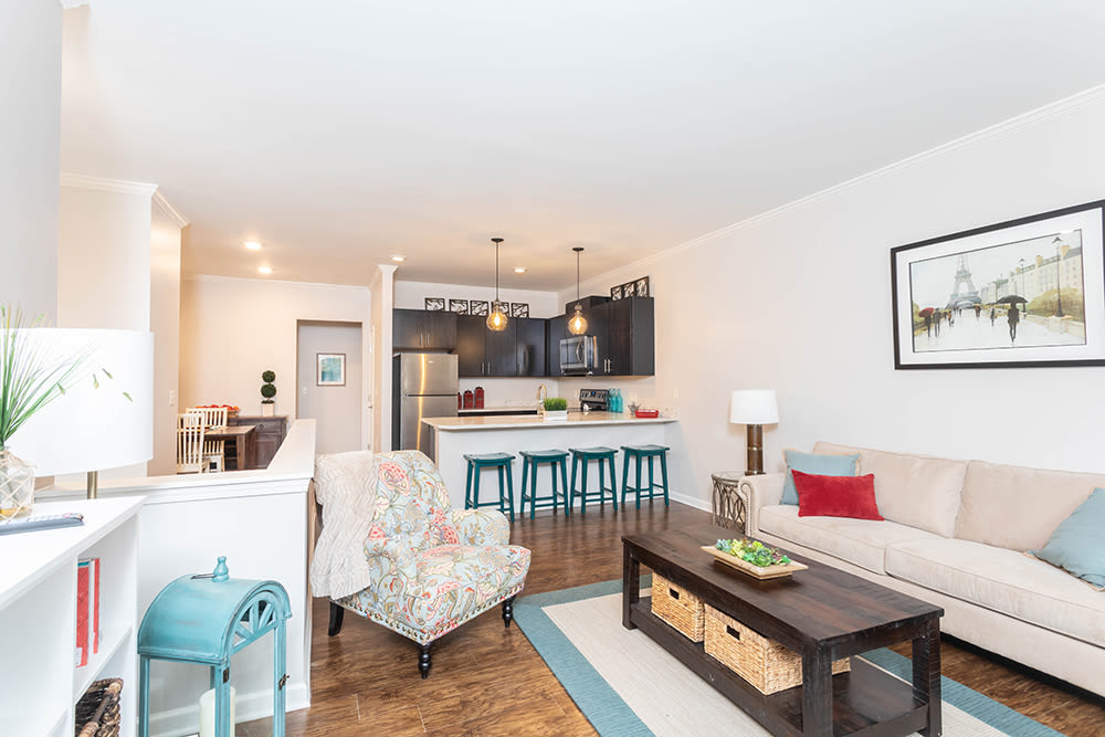 Open floor plans at North Ponds Apartments in Webster, New York