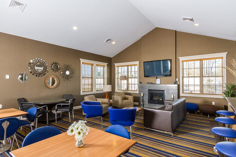 Clubhouse seating at North Ponds Apartments in Webster, NY