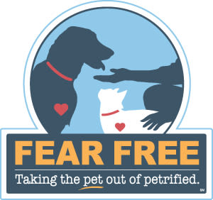 Fear free certified at Angeles Clinic For Animals in Port Angeles, Washington