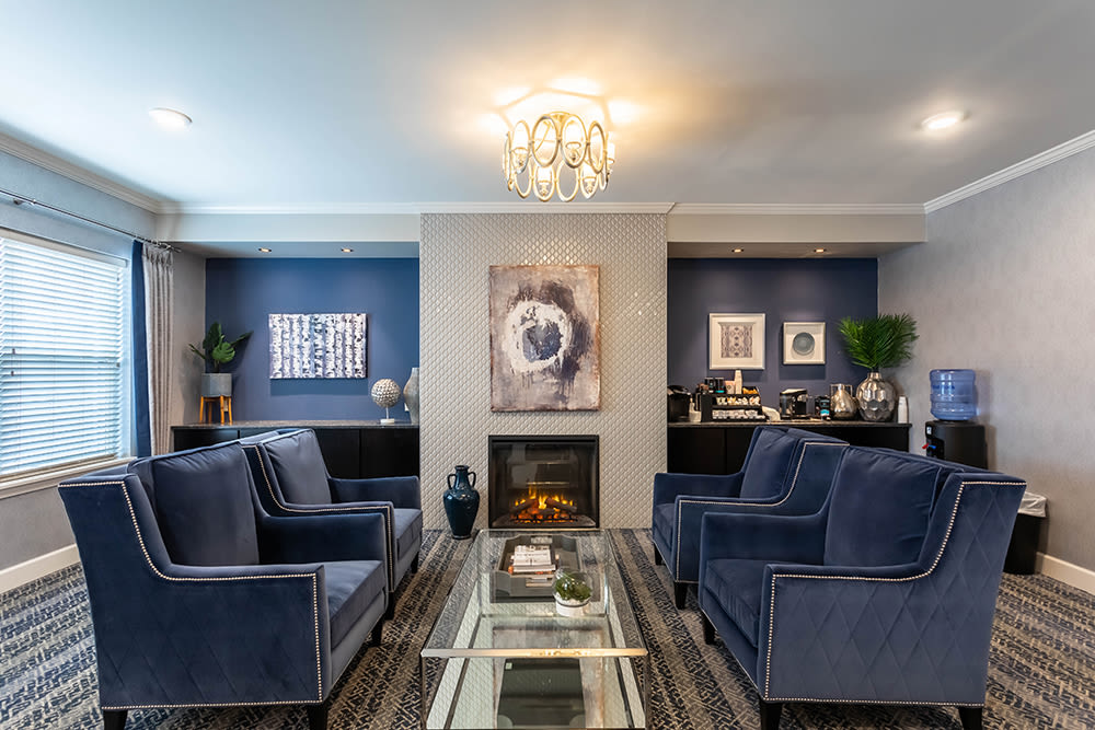 Luxury clubhouse at apartments in Webster, New York