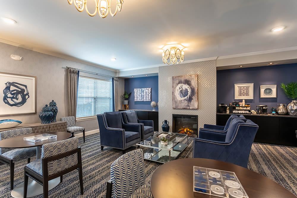 Beautiful clubhouse at apartments in Webster, New York
