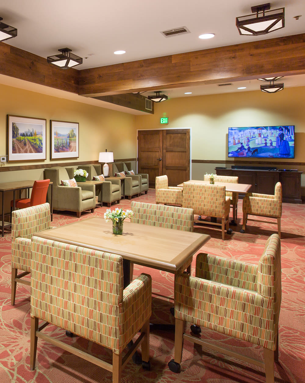 Common room at Oakmont Gardens in Santa Rosa, California