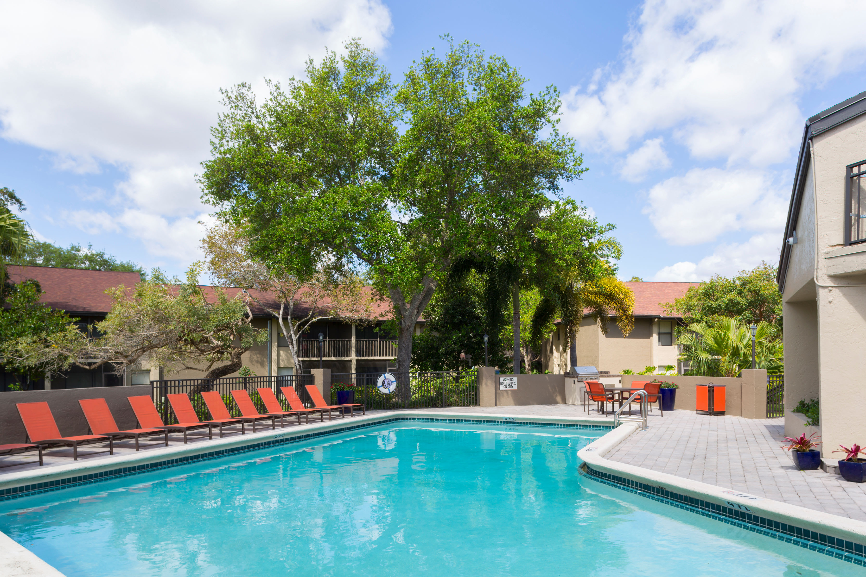Swimming pool area at Siena Apartments in Plantation, Florida