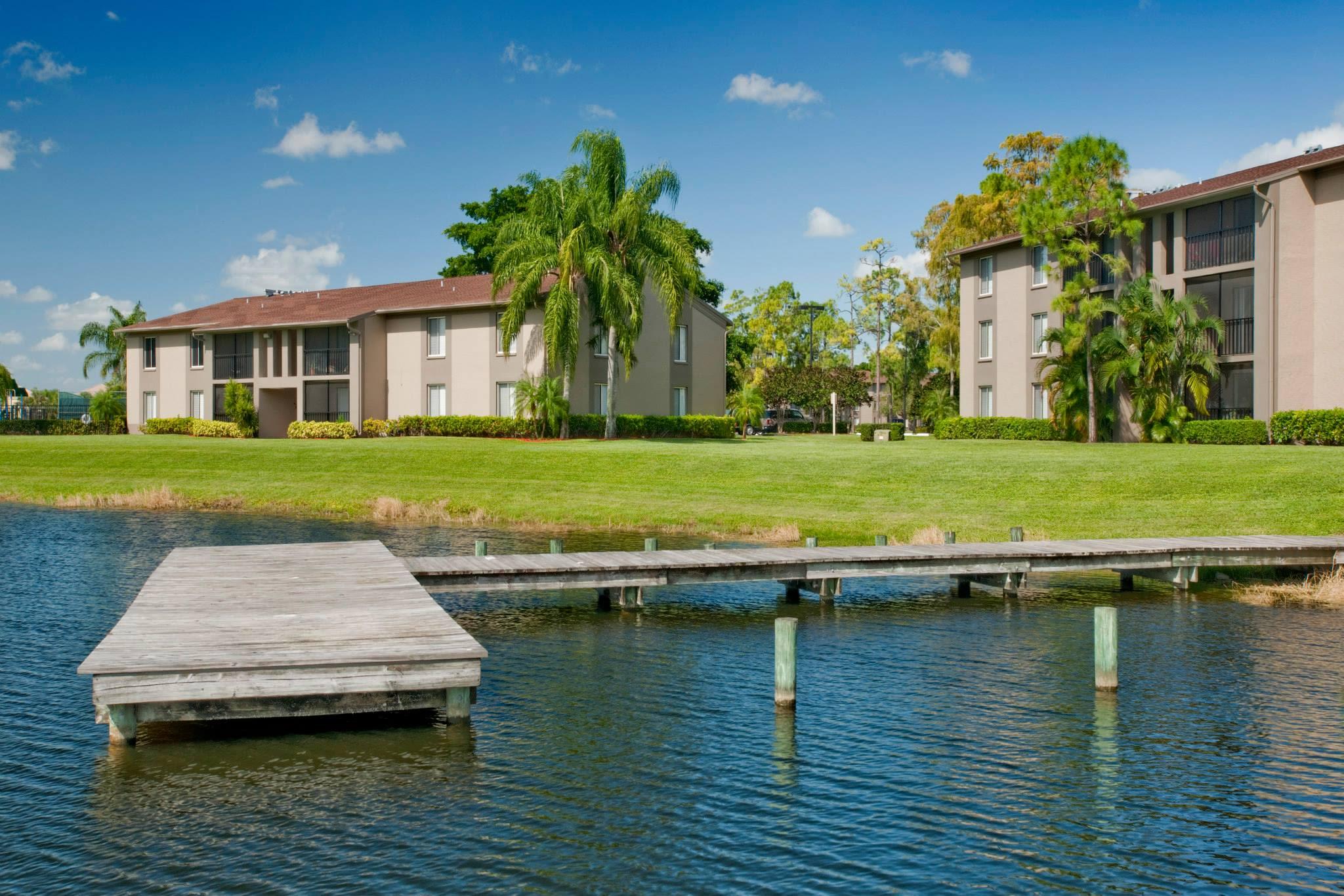 Small resident dock at Verse at Royal Palm Beach in Royal Palm Beach, Florida