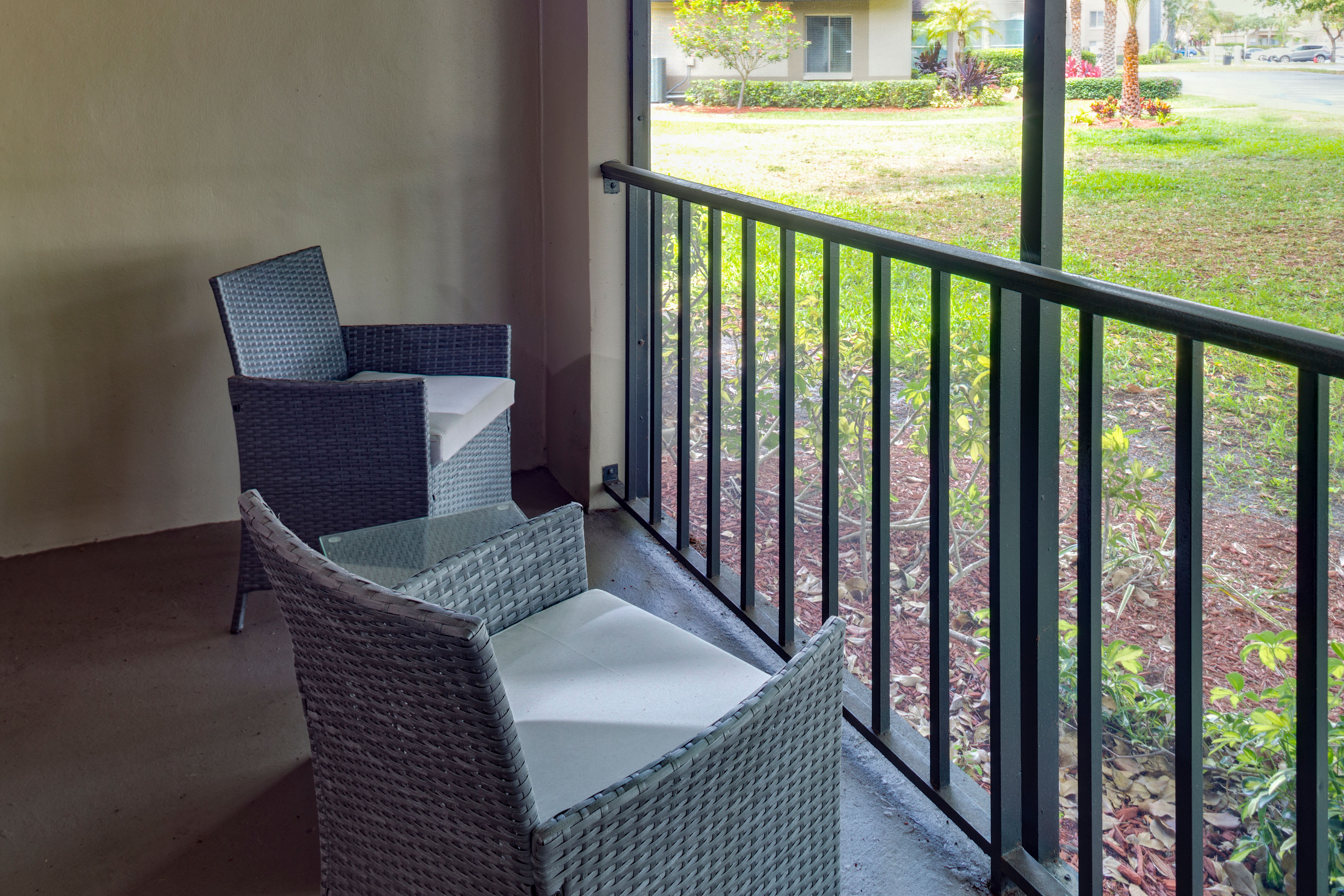 Resident private balcony at Verse at Royal Palm Beach in Royal Palm Beach, Florida