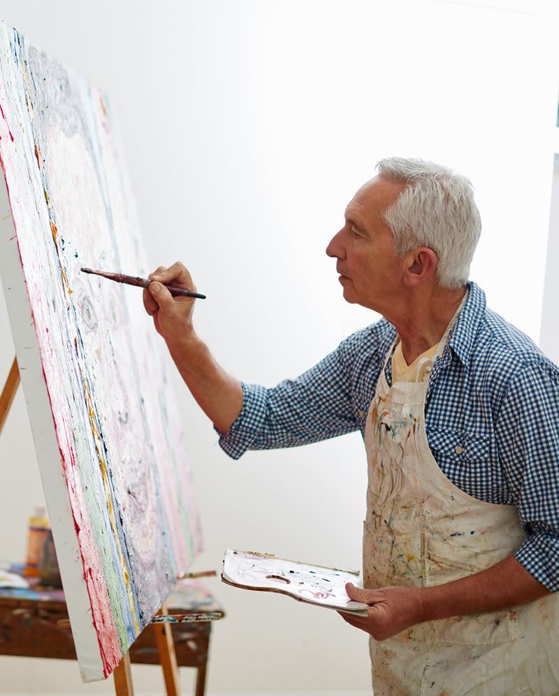 Seniors painting at McDowell Village in Scottsdale, Arizona