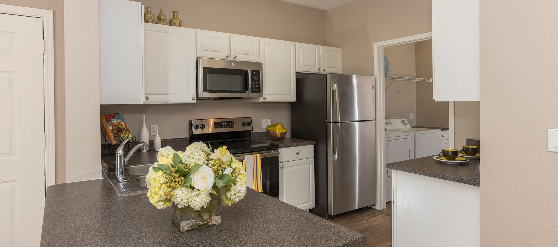 Our apartments in Antioch, California have a natrually well-lit kitchen