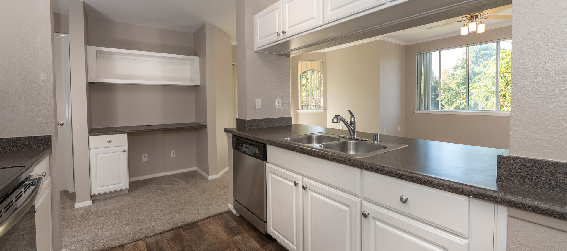 Spacious kitchen at Cross Pointe Apartment Homes in Antioch, California
