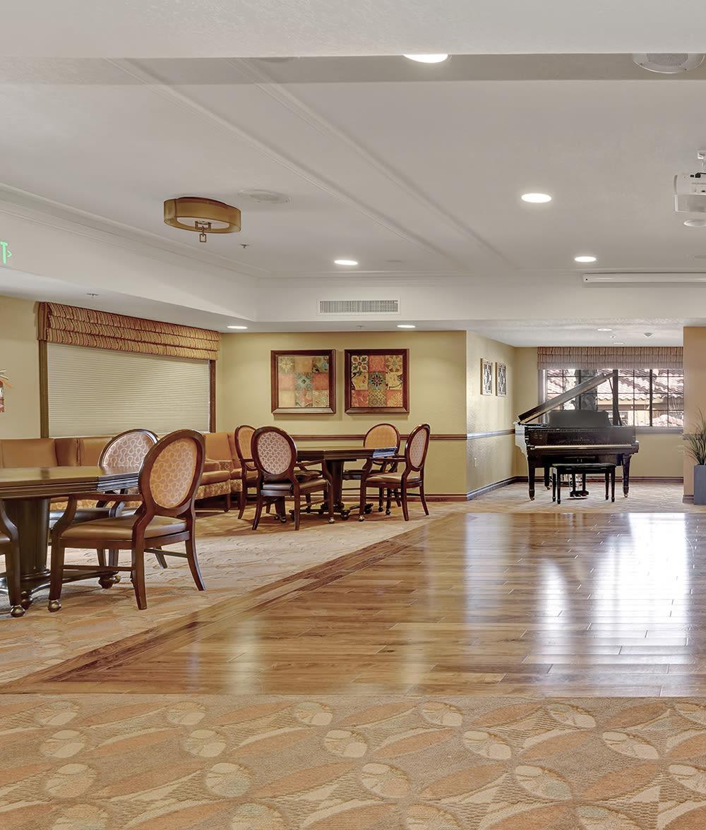 Piano room at The Country Club of La Cholla