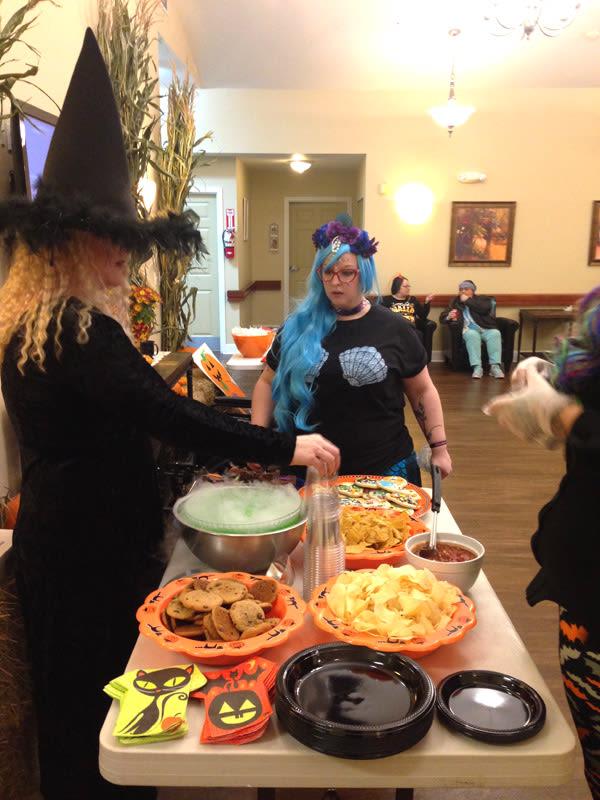 memory care Halloween fun