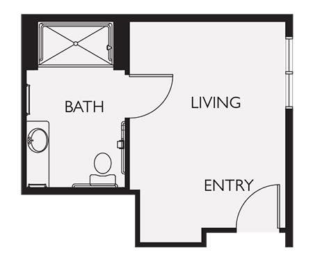 Private Living Studio Suite at Seven Lakes Memory Care in Loveland, Colorado