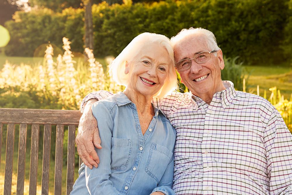Seniors laughing at Northgate Plaza in Seattle, Washington
