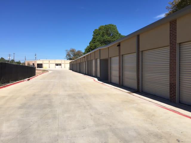 Exterior storage units at Advantage Storage -  Justin Road in Flower Mound, Texas