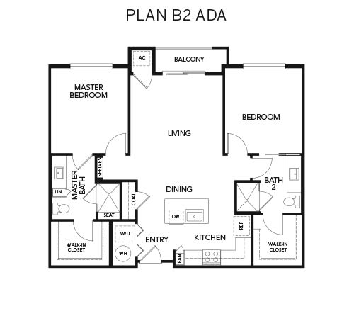 B2 ADA floor plan at Avenida Naperville in Naperville, Illinois