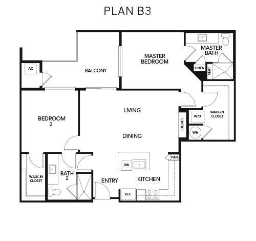 B3 floor plan at Avenida Naperville in Naperville, Illinois