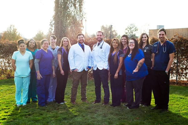 Staff group photo at Animal Crackers Veterinary Hospital