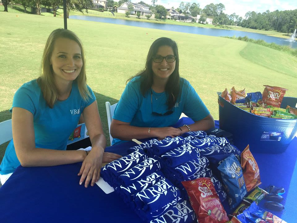 Employees from at WRH Realty Services, Inc at a fundraiser event
