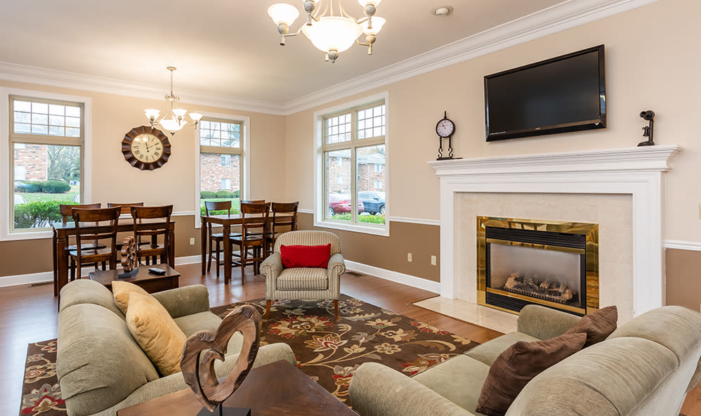 Beautiful Clubhouse interior at Knollwood Manor Apartments