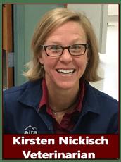 Dr. Kirsten Nickisch at animal hospital in Pocatello