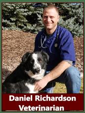 Dr. Daniel Richardson at animal hospital in Pocatello