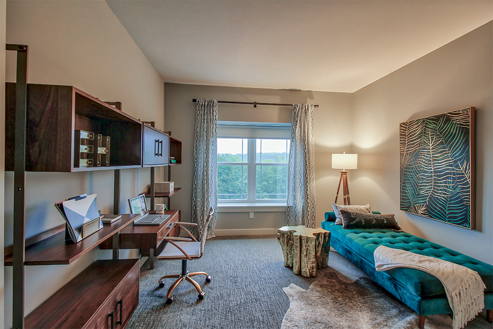 Spacious bedroom at Ellison Heights Apartments in Rochester, New York