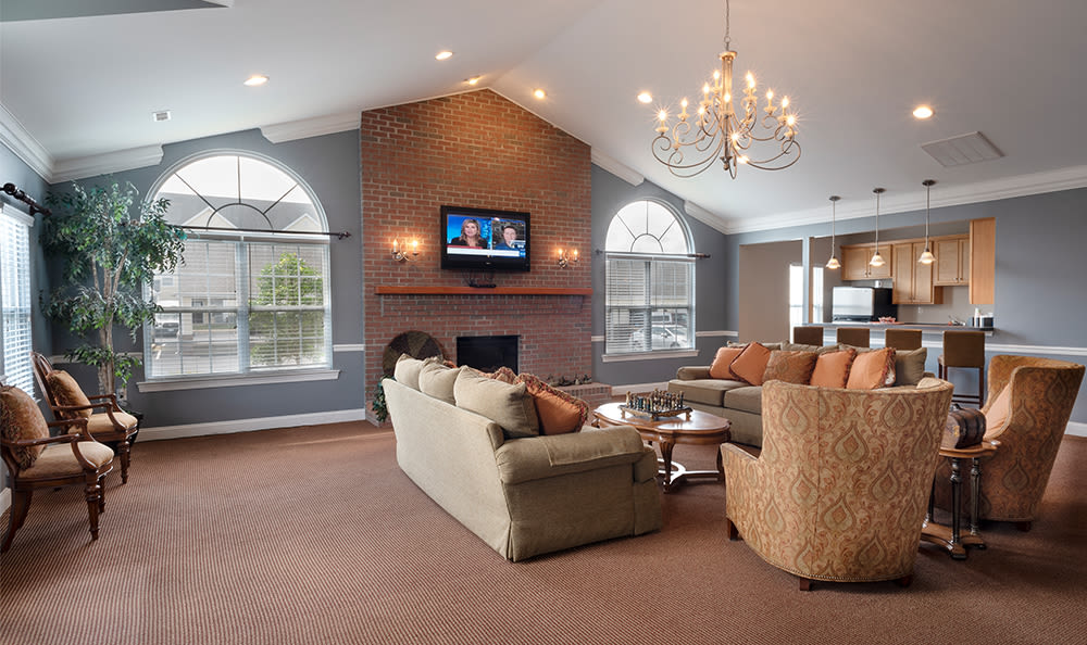 Our apartments in Dover, Delaware showcase a beautiful clubhouse