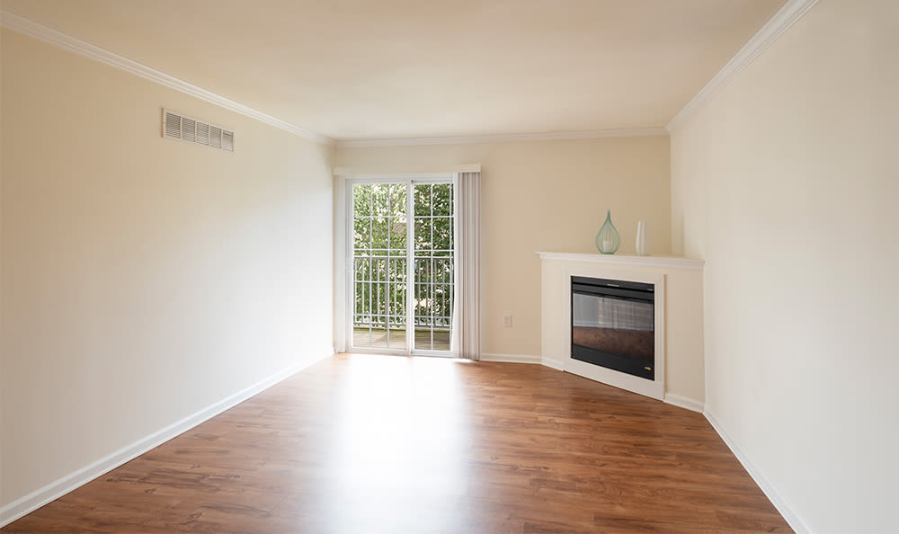 Enjoy apartments with a fireplace at Cannon Mills