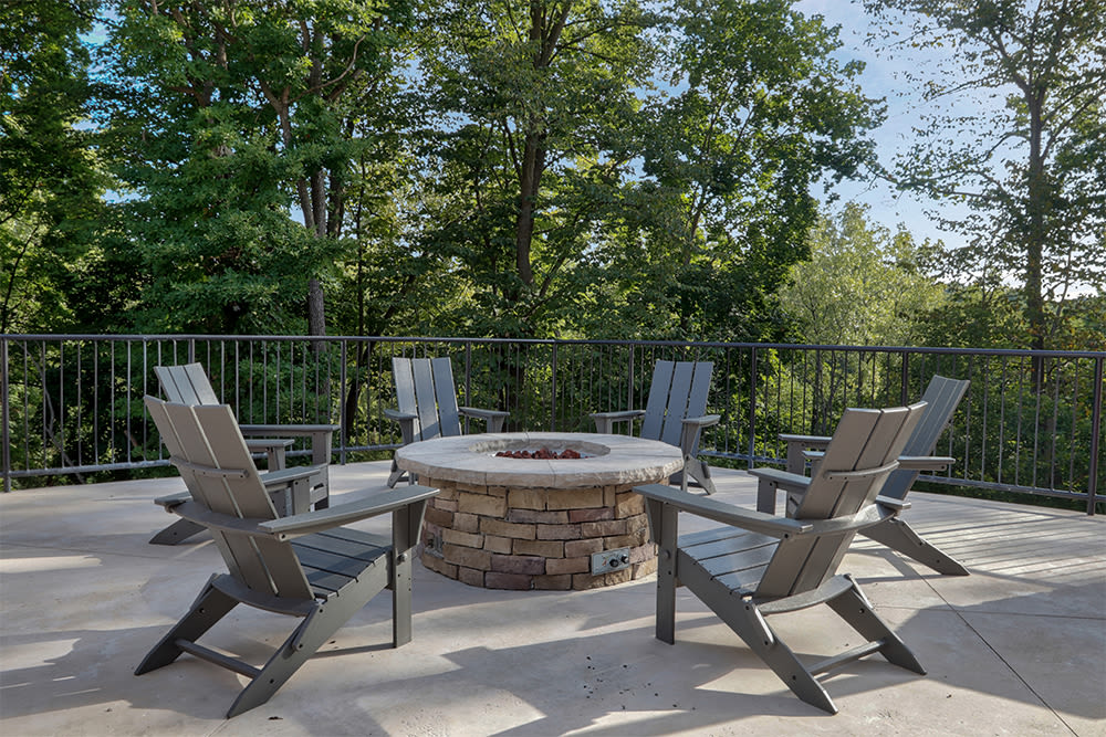 Fire pit at Ellison Heights Apartments in Rochester, New York