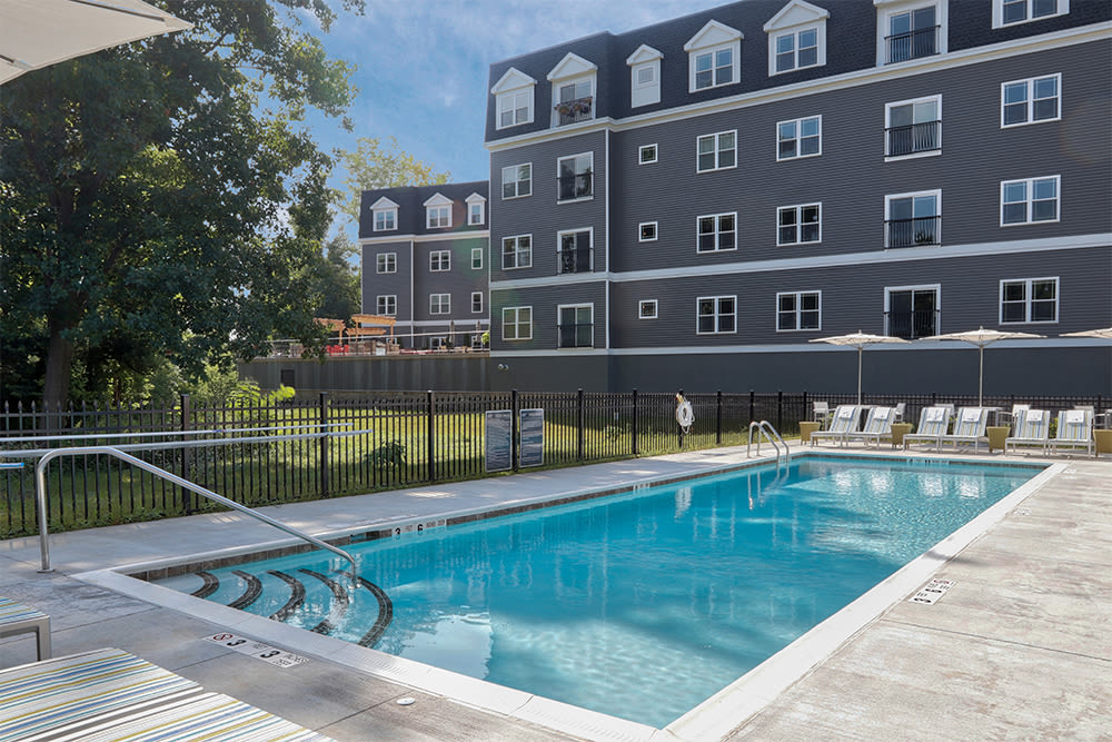 Beautiful swimming pool at Ellison Heights Apartments in Rochester, New York
