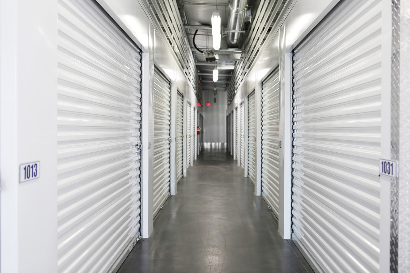 Interior units at Midgard Self Storage in Bradenton, FL