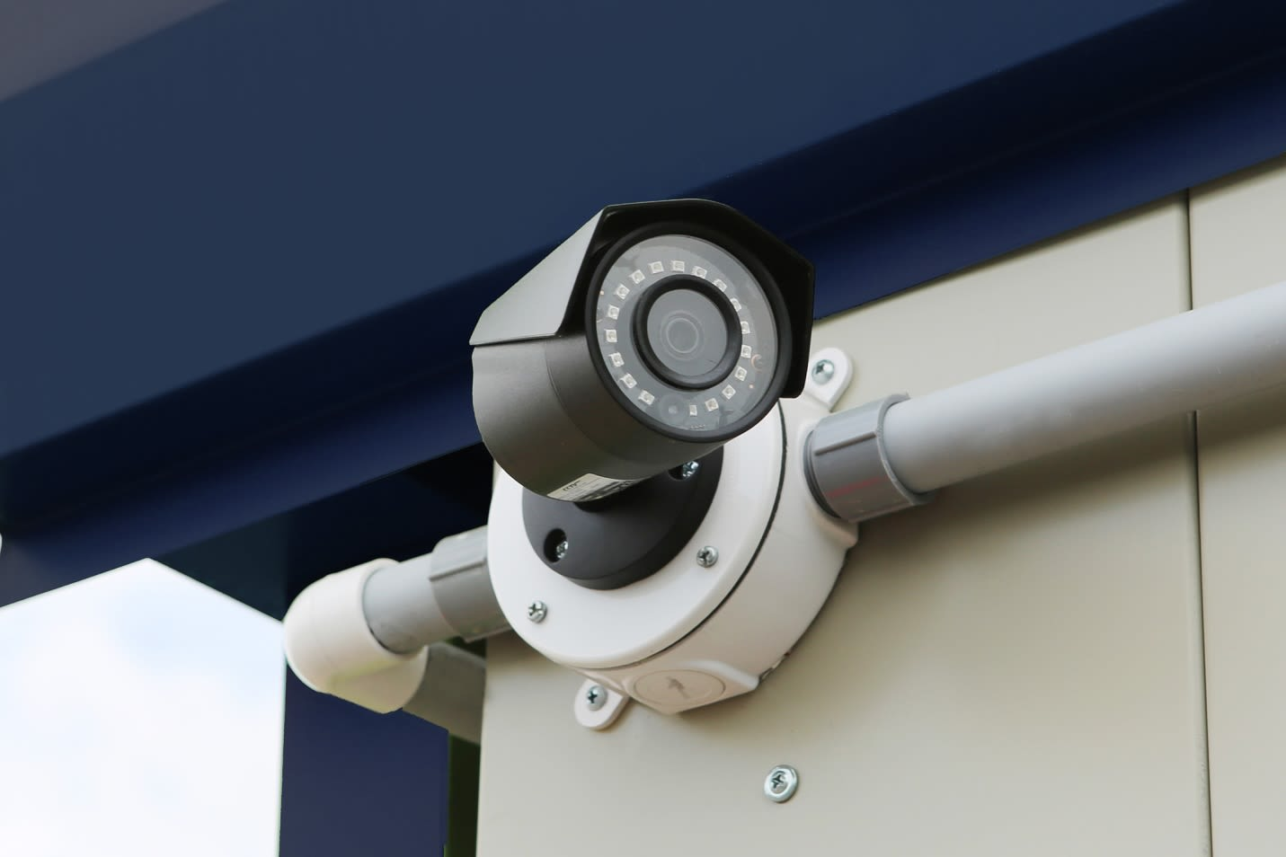 Security cameras at Midgard Self Storage in Athens, AL