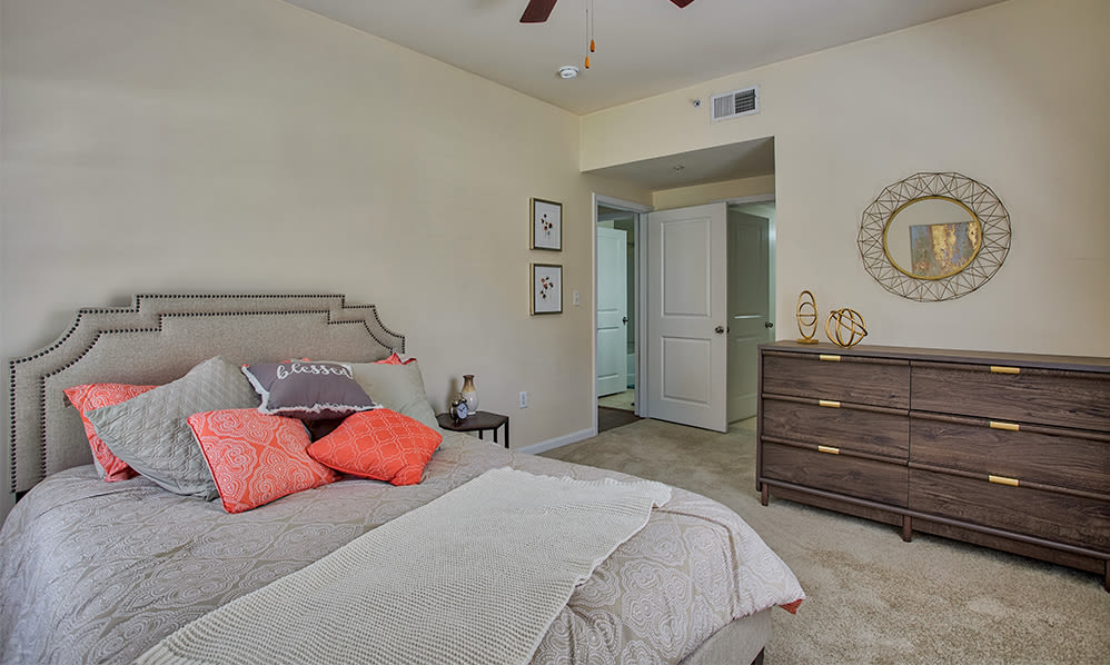 Atkins Circle Apartments offers a spacious bedroom in Charlotte, North Carolina