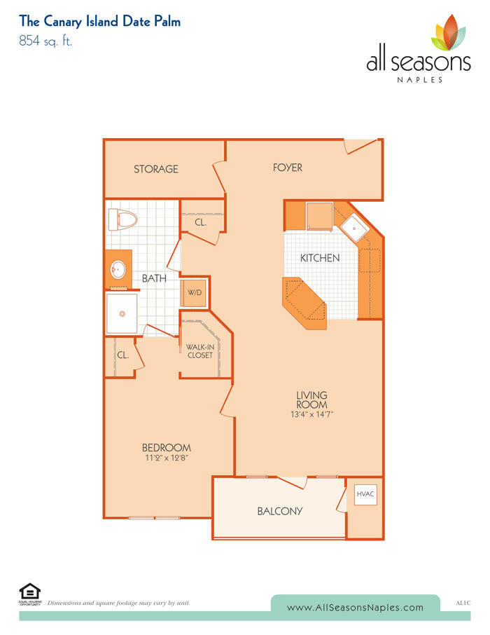 The Canary Island Date Palm floor plan at All Seasons Naples in Naples, Florida