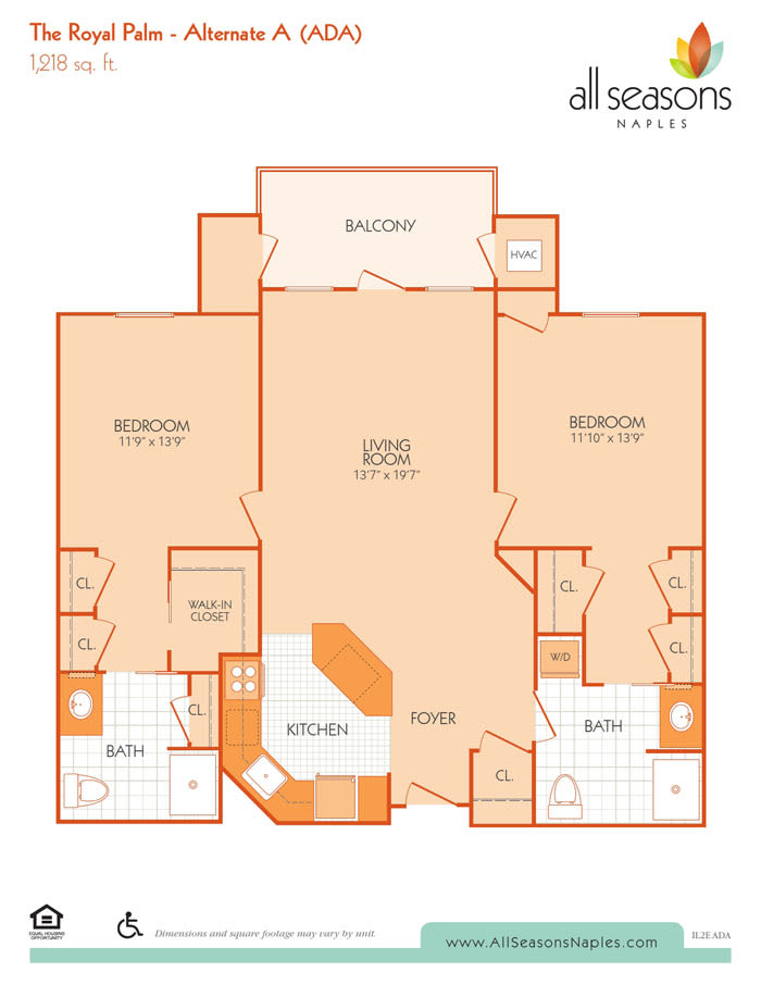 The Royal Palm Alternate A floor plan at All Seasons Naples in Naples, Florida
