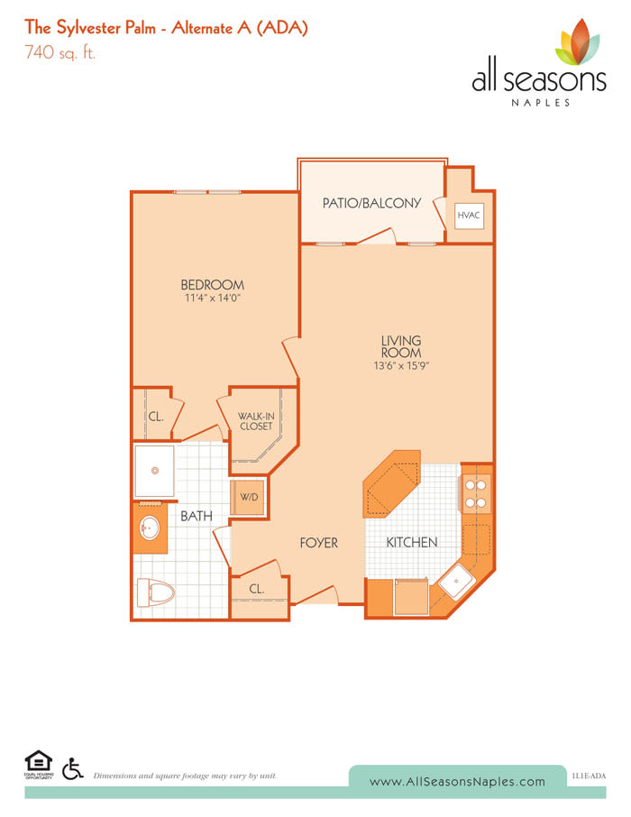 The Sylvester Palm - Alternate A floor plan at All Seasons Naples in Naples, Florida