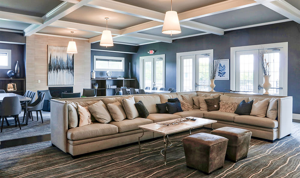 Beautiful clubhouse at Fairview at Town Center in Rochester, New York