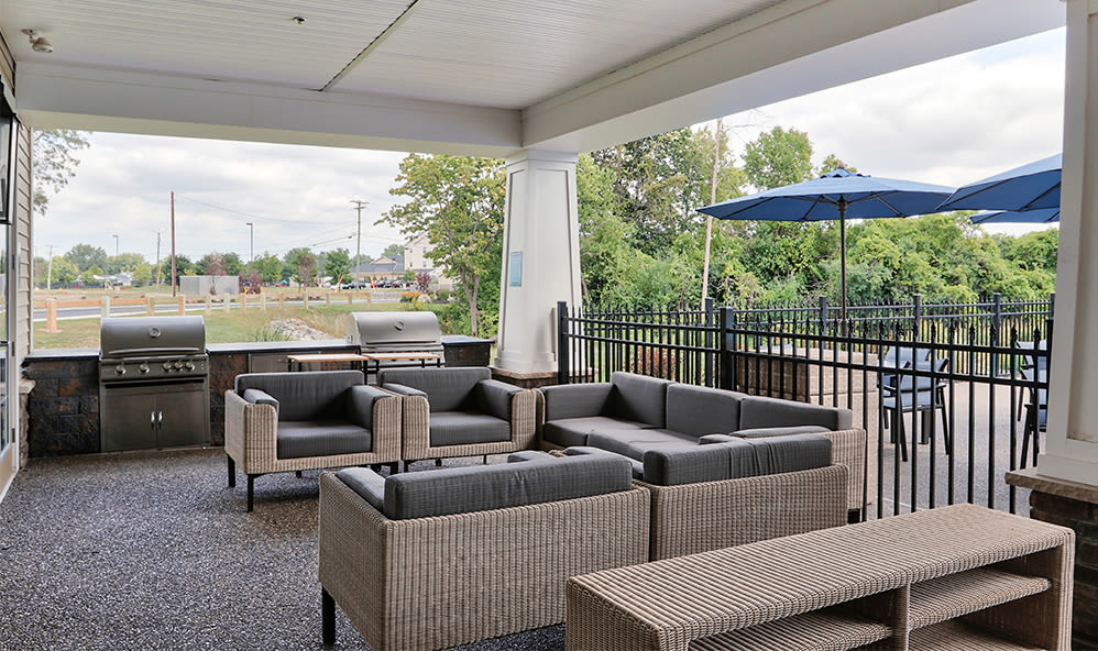Fairview at Town Center offers an relaxing patio in Rochester, New York