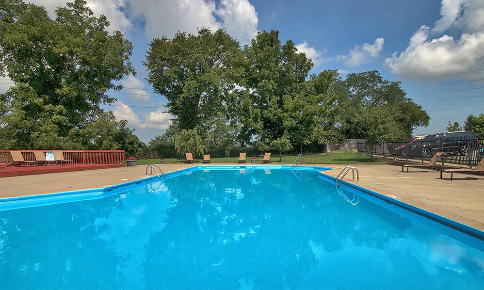 Beautiful swimming pool at apartments in Cincinnati, Ohio