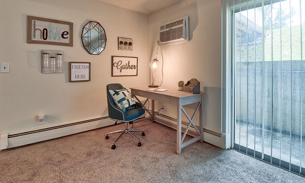 Spacious bedroom at apartments in Cincinnati, Ohio