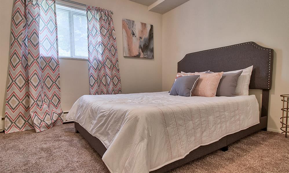 Bedroom at apartments in Cincinnati, Ohio