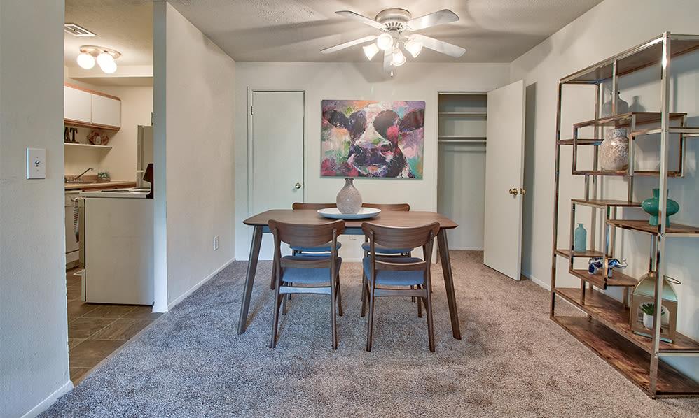 Dining area at apartments in Cincinnati, Ohio