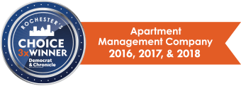 Apartment management award for Morgan Management, LLC in Pittsford, New York