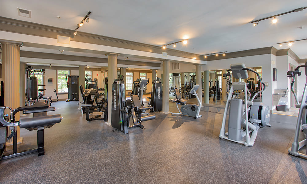 State-of-the-art fitness center at apartments in Charlotte, North Carolina